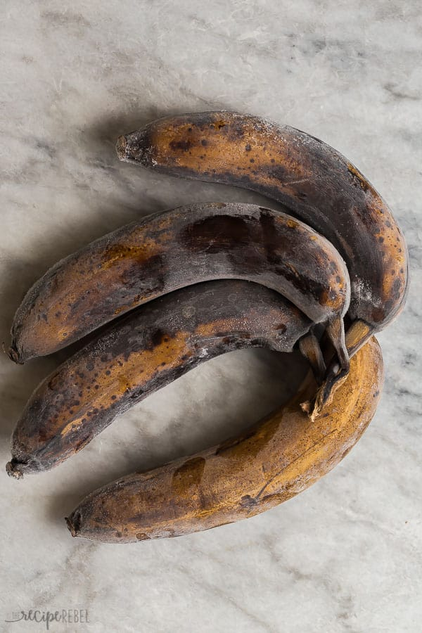 how to freeze bananas whole in the peel black bananas on grey marble