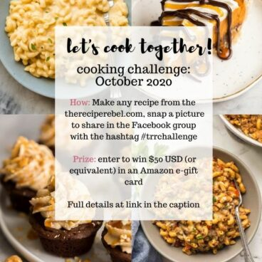 october cooking challenge announcement for the recipe rebel