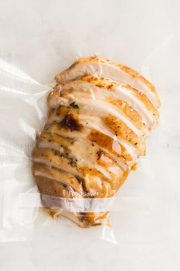 turkey breast vacuum sealed for the freezer