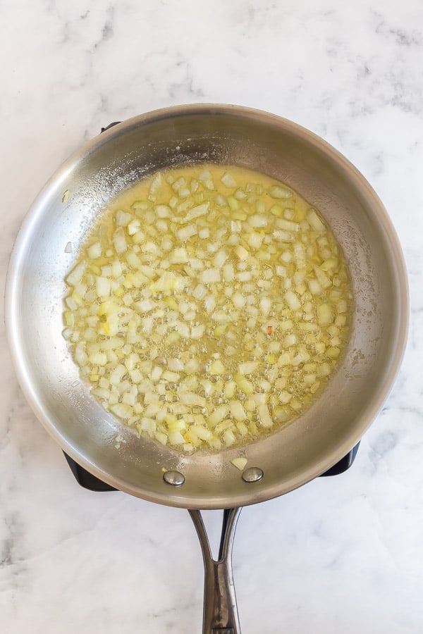 onions being sauteed in butter