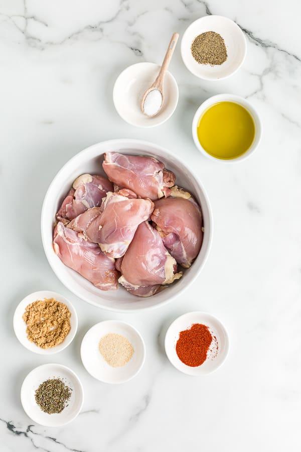 air fryer boneless chicken thighs ingredients