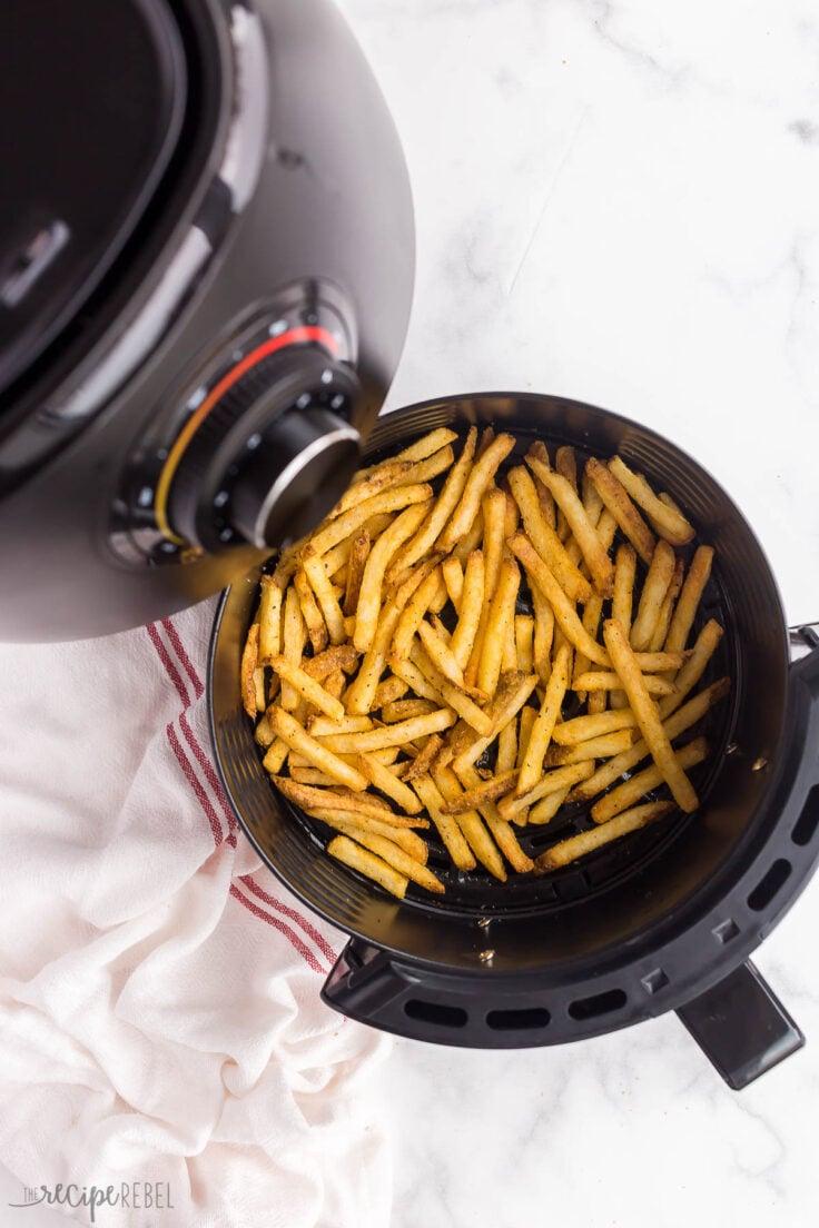 crispy air fryer french fries in basket