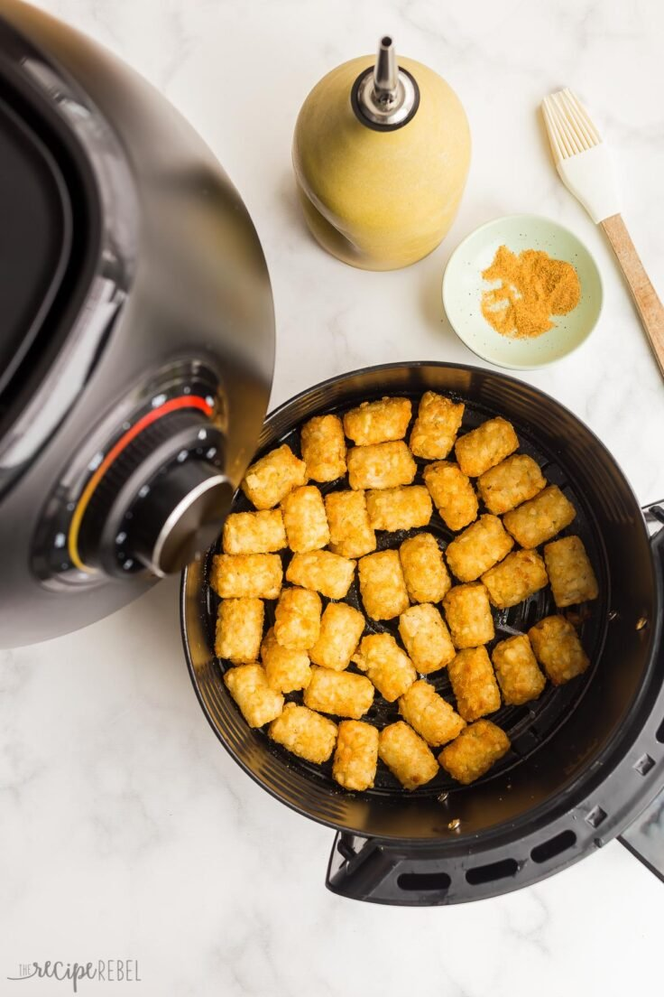 tater tots in air fryer basket cooked