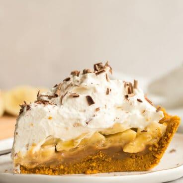 slice of banoffee pie on plate